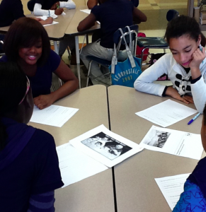 Students engaged in historical inquiry