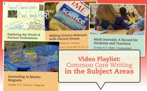 Video Playlist: Writing in the Subject Areas