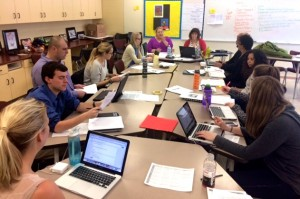 Social Studies teachers met for DBQ Day in February.