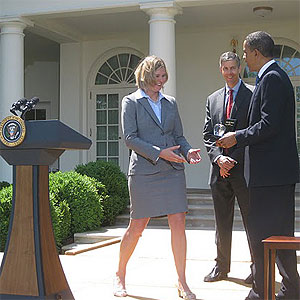 Sarah Brown Wessling and Barack Obama