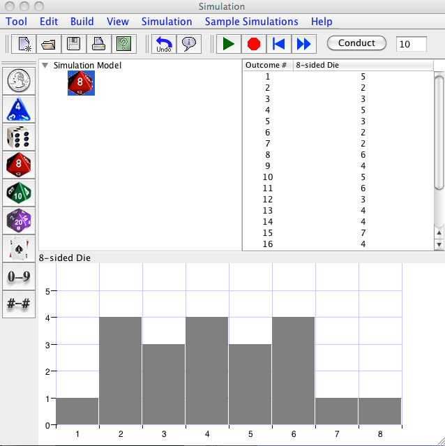 8 sided dice simulator with graph logosportswear