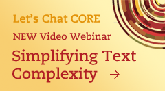 Common Core Video Webinar