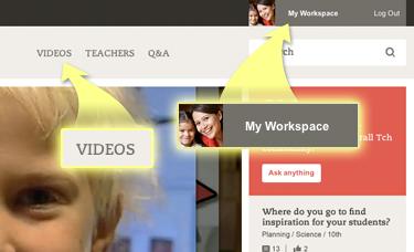 My Workspace and teacher videos