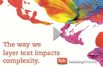The way we layer text impacts complexity