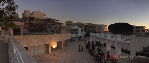 Getty Museum at night