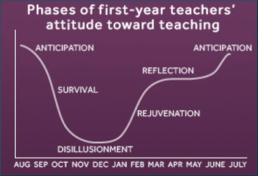 phases of 1st year teachers