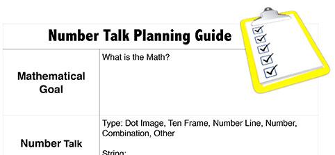 Number Talk Planning Guide