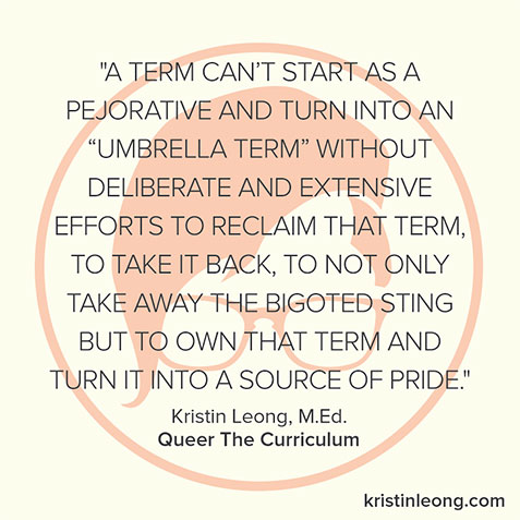 Kristin Leong Quote On Queer