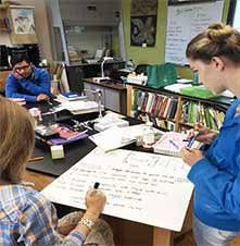 Student board meeting for assessment