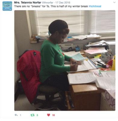 TchItReal tweet Mrs. Telannia Norfar