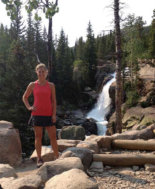 Sarah Brown Wessling on hike
