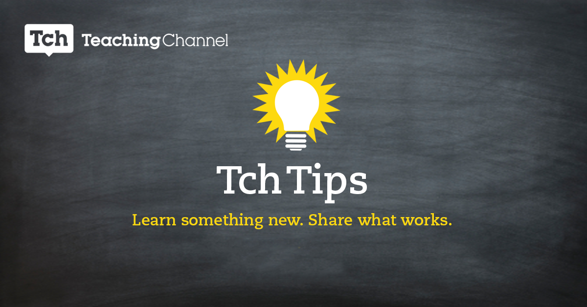 Tch Tips: Teaching Collaboration Skills