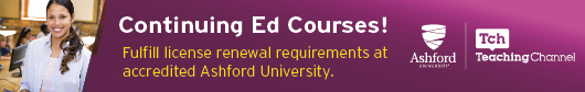 Continuing Ed COurses - Fulfill license renewal requirements at accredited Ashford University