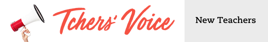 Tchers Voice New Teachers Blog Header