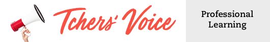Tchers Voice Professional Learning Blog Header