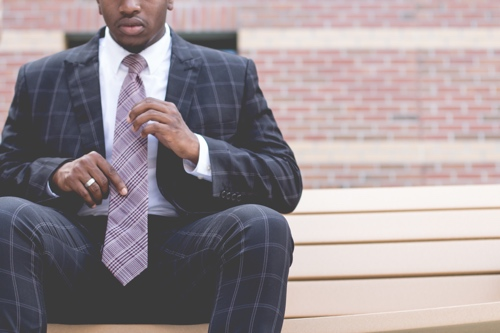 African American man dressed in business attire