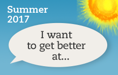 I Want to Get Better at... Summer Learning 2017