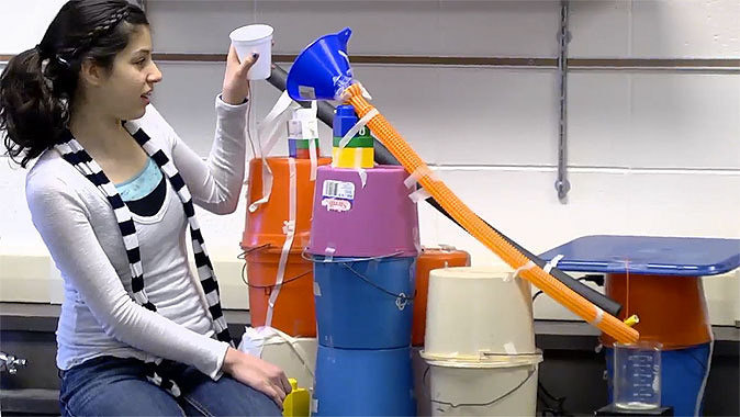 middle school and high school science lesson - rube goldberg contraptions