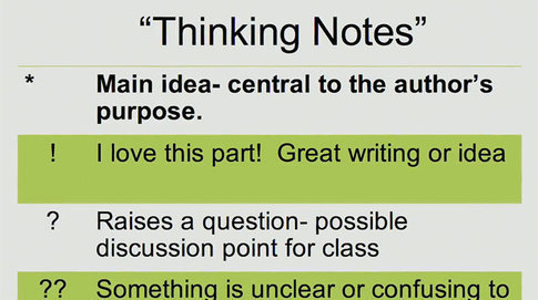 Thinking Notes: A Strategy to Encourage Close Reading