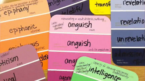 Vocabulary Paint Chips